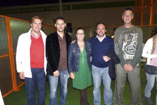 Joan Servera, Antoni Martorell, Nekane Domblás, Manuel Núñez y Santi Martorell. Foto: E.P.