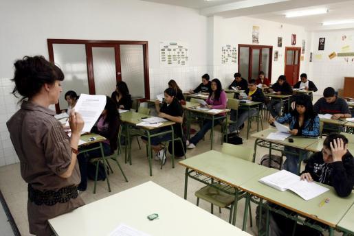 Imagen de una aula sometiéndose a las pruebas de evaluación PISA.