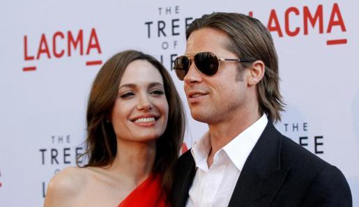 Imagen de Angelina Jolie y Brad Pitt en Los Ángeles el año 2011.