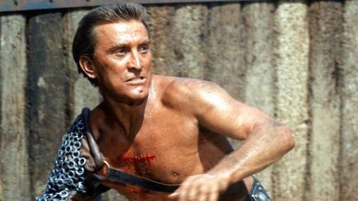 Kirk Douglas, como Espartaco en la película homónima.