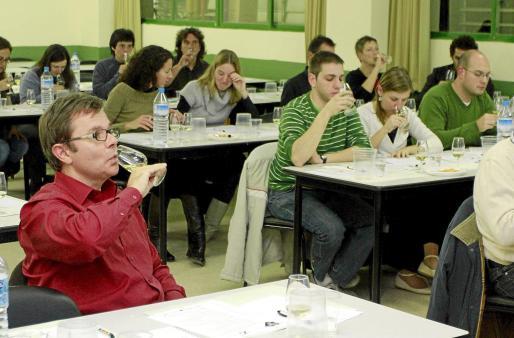 Un momento de la degustación científica de los vinos Pla i Llevant-Mallorca. Fotos: MIQUEL ANGEL CAÑELLAS