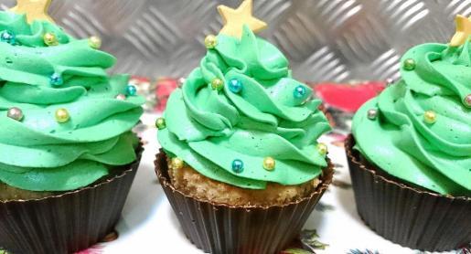 'Cupcakes' con decoración navideña.