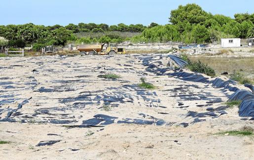 Imagen del inicio de las obras de construcción del campo de golf de Son Bosc en el municipio de Muro.
