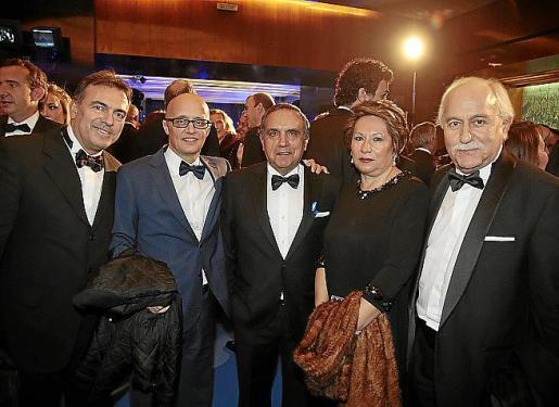 Imanol Pérez, Richard Clark, Antonio Hidalgo, Candela Fernández y Manuel Panadero.