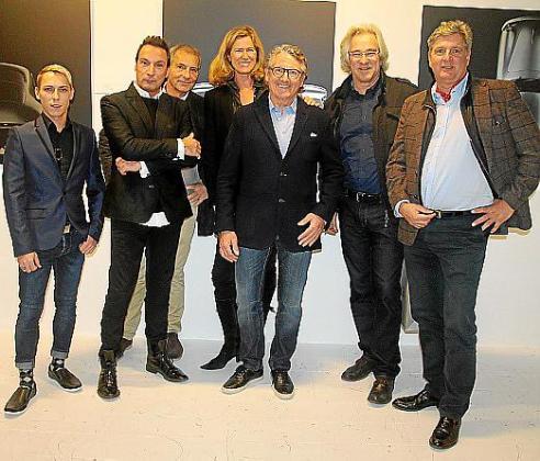 Mathias Kalnechl, Stefan Niedenzu, Konstantine Jacoby, Renate Pentzel, René Staud, Bernd Jogalla y Arno Meuser.