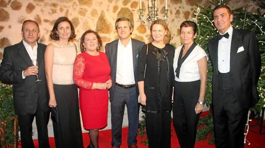 Pepe Zaforteza, Paula Serra, Carmen Dameto, Pedro Rullán, María Salom, Carmen Serra y Esteban Mercer.
