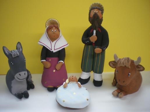 Las figuras del Pesebre, bajo la original óptica de los artesanos de Es Retall.