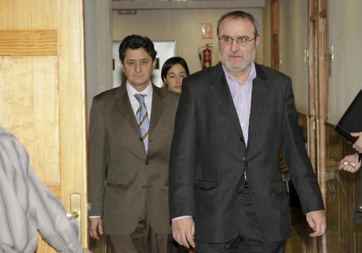 El ex alcalde Antoni Caldentey, el pasado enero antes de declarar por el 'caso Maquillaje'.