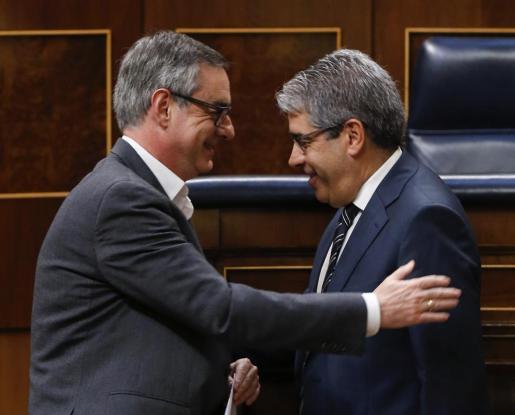 El portavoz del PDECat en el Congreso, Francesc Homs, durante la sesión de control al Gobierno.