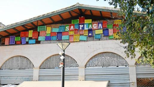 La nueva imagen que presenta la fachada de Sa Plaça.