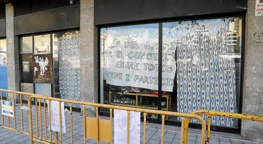 Imagen del local que ha sido ocupado en la calle Marqués de Fontsanta.