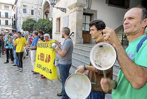En la legislatura del PP, la izquierda se unió a las protestas.