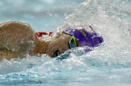 El nadador mallorquín Marc Sánchez Torrens, del club natación Sabadell, durante una prueba.