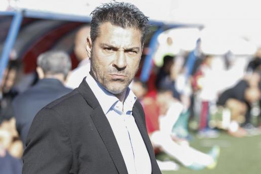 Javier Olaizola, durante un partido.