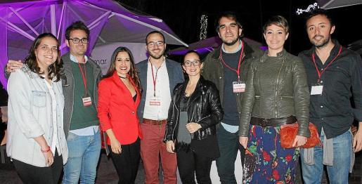 Luisa Bustillo, Pedro de Miguel, Patricia Bustos, Paco Berga, Raquel Campos, Toni Buades, María Berga y Javier Ureña.