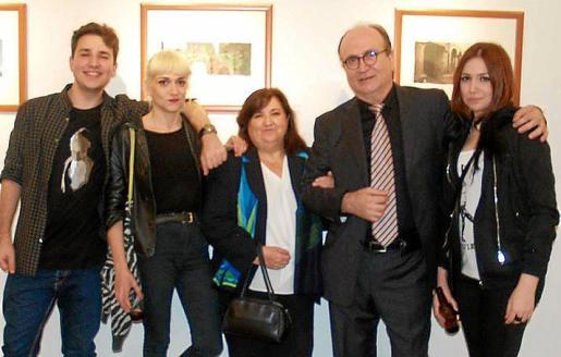 Fran Lorente, Luz Lorente, María Antonia Bibiloni, Pere Lorente y Antonia Lorente.