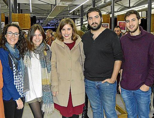 Marga Ramón, Aina Villalonga, Xisca Bayona, Pau Rierol y Miquel Company.
