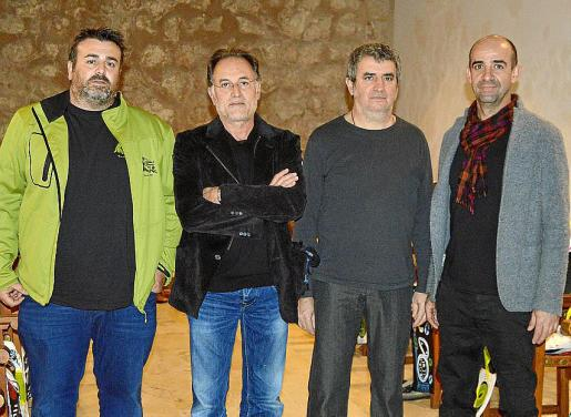 Jordi Simonet, Rafa Forteza, Joan Fuster y Biel Vaquer.