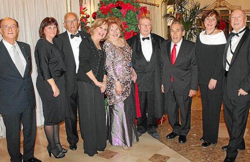 Juan Perera, Gabriela Martorell, Rafel Prohens, Lola Gutiérrez, María Fullana, Jacinto Martínez, Pedro Iriondo, María Antonia Martorell y Onofre Prohens.