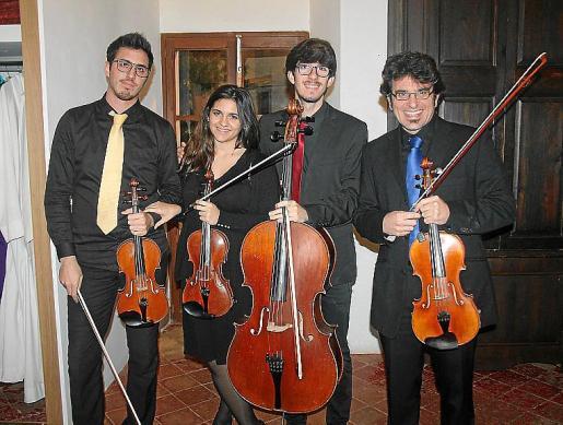 El Musicasa String Quartet: Javier Díaz, Ariadna Ferrer, David Arévalo y Gabriel Espinosa.