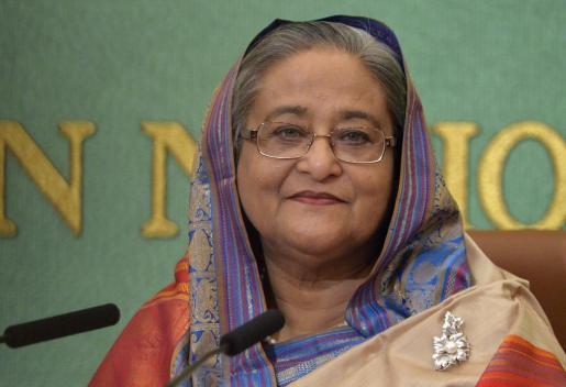En la imagen, la primera ministra de Bangladesh, Sheikh Hasina.