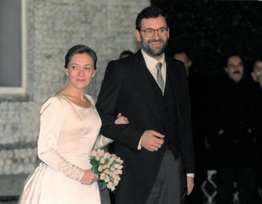 Imagen de archivo de la boda entre Mariano Rajoy y Elvira Fernández.