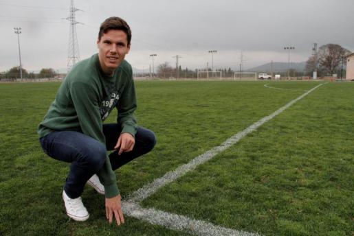 El murciano Héctor Yuste, capitán del Mallorca, en una imagen captada en las instalaciones de la ciudad deportiva Antonio Asensio.