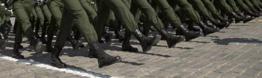 Imagen de un desfile militar.