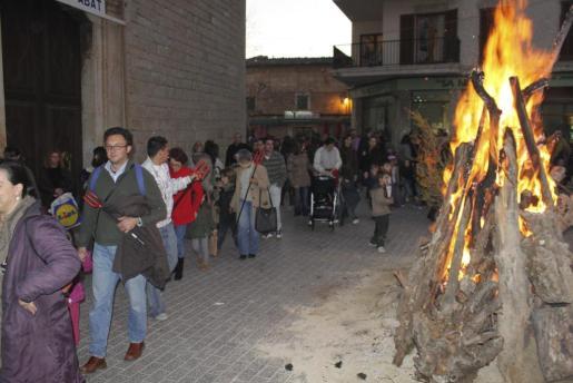 Imagen de archivo de la celebración de Sant Antoni en Alaró.