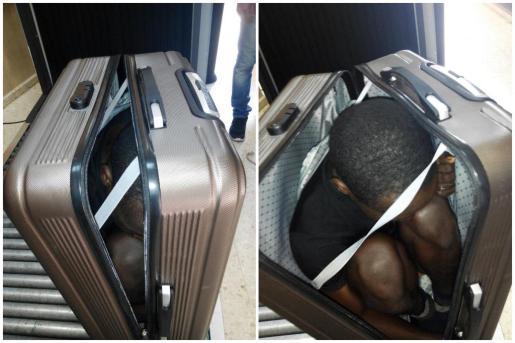 La Guardia Civil ha detenido en Ceuta a una joven marroquí, de 22 años, cuando pretendía cruzar la frontera ceutí con un inmigrante subsahariano que había escondido en el interior de una maleta.