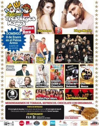 Shara Lee y Diego Martín encabezan el cartel de actuaciones en el Festival Tres Reyes Magos de Ultima Hora.