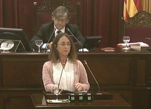 En la imagen, la diputada de C's Baleares en el Parlament, Olga Ballester.