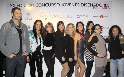 Los nueve finalistas en el XX Concurso Jóvenes Diseñadores de Baleares.