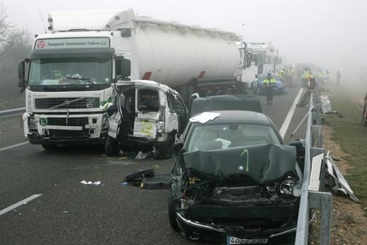 En la imagen, accidente ocurrido en Lleida (Cataluña).
