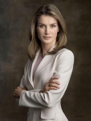 Foto oficial de la princesa Letizia.
