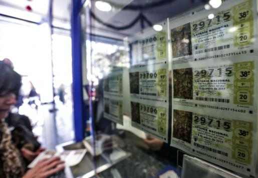 Imagen de una administración de lotería en Valencia.