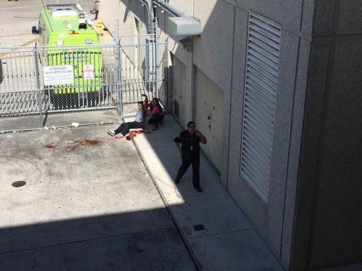 Imagen de uno de los heridos en el tiroteo.