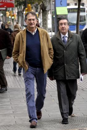 Josep Lliteres, llegando a los juzgados.