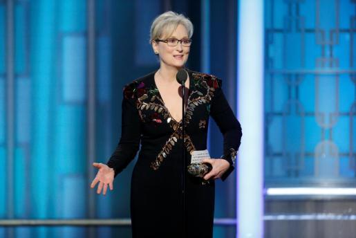 Meryl Streep, durante su discurso.