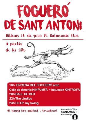 Cartel de las fiestas de Sant Antoni en Canamunt.
