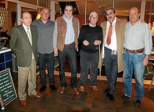 Maximino Forés, Juan Mateo Horrach, Alberto Lasheras, Jeroni Cabot, Juan Roca y Antonio Rapha.