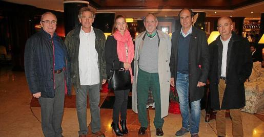 Miquel Horrach, Biel Vicens, Marta Lozano, Javier Juan, Lluís Ortega y Miquel Palmer.
