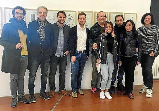 Izquierda: Félix Coll, Luis Maraver, Xisco Duarte, Andreu Villalonga, Toni Torres, Bel Fullana, Marcos Vidal, Wai Kit Lamp y Cati Vallés.