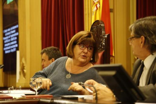 En la imagen, diputada de Podemos y presidenta del Parlament, Xelo Huertas.