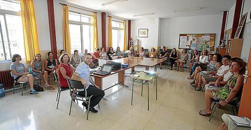 Imagen de archivo de una reunión de profesores.