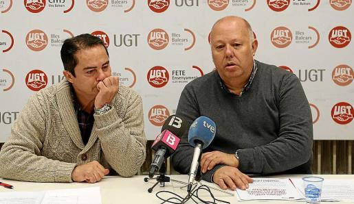 Miguel Ángel Romero y Jordi Crehuet, en la presentación del informe.