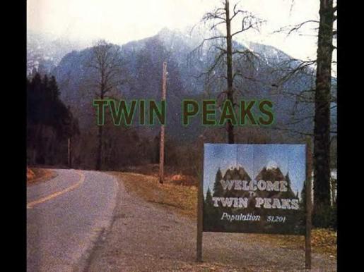 Imagen que nos da la bienvenida al mítico pueblo de «Twin Peaks».