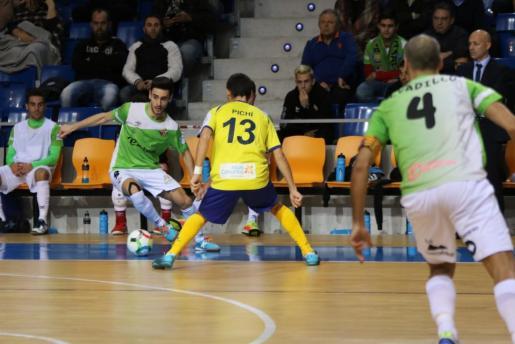 Un momento del encuentro entre el Palma Futsal y el Gran Canaria.