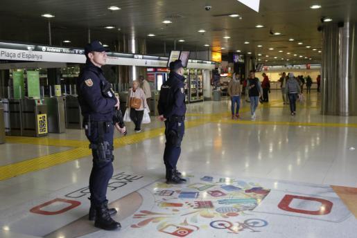El sindicato reclama una mayor presencia policial en la estación palmesana.