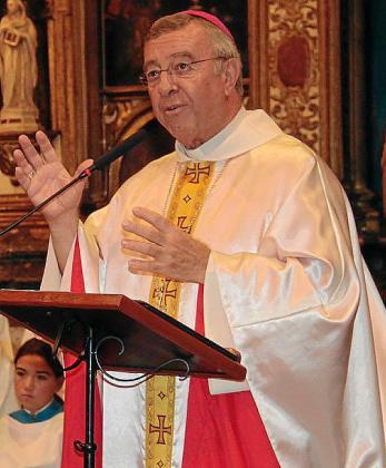 El obispo Sebastià Taltavull, en la eucaristía oficiada en Lluc.